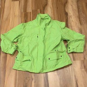 Coldwater Creek Green Jacket Petite Large